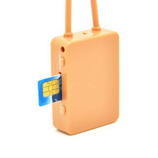 Smallest Wireless Earpiece GSM Neckloop - Brown