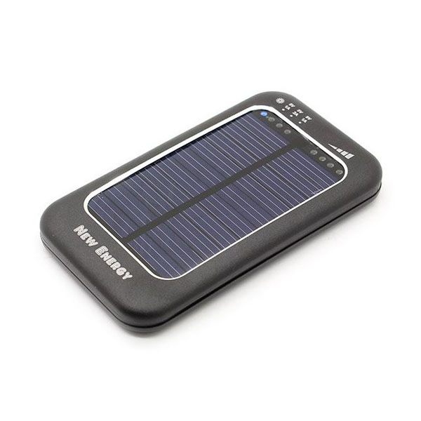 3500mAh Solar Powerbank With Adjustable Output Power - Black