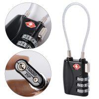 TSA719 3 Digit Wire Lock - Black