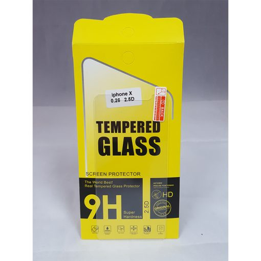 Tempered Glass Film Screen Protector for Iphone X - Clear
