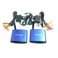 Wireless AV Coaxial Cable TV Sharing 2.4 GHz Transmitter Receiver - Blue