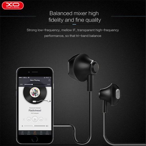 XO S5 Ergo Triband Balance Earbuds - Black