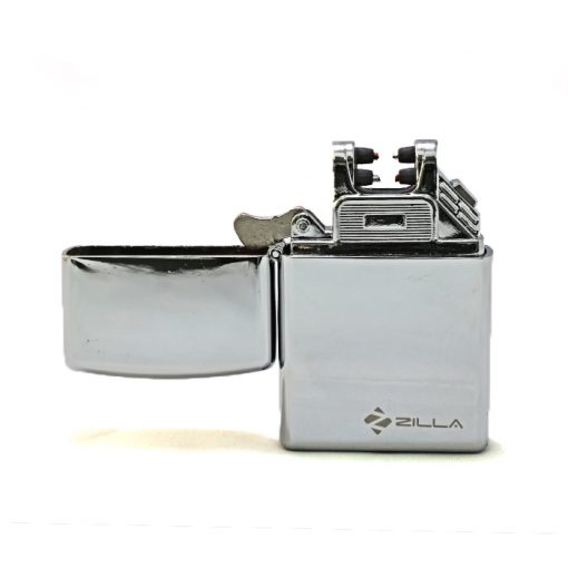 Zilla Double Arc Electric Rechargeable USB Lighter - Silver
