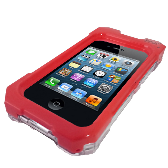 iPega Waterproof Protective Case for iPhone 4/4s - Red